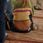 Girl on the Floor at the 2009 WSOP