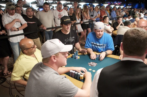 Erick Lindgren, half-man, half-amazing Freddy Deeb and 11-time WSOP bracelet winner Phil Hellmuth