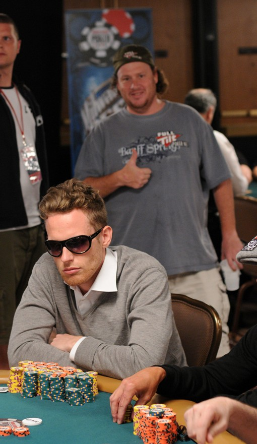 This guy is one of the chip leaders. But we don't know who he is.