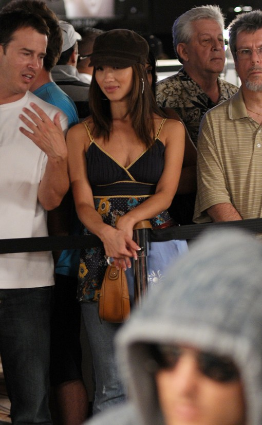 We like seeing more of Prahlad Friedman (above right foreground from 2009 WSOP Main Event) on the tournament circuit, and we definitely like seeing more of his cute A wife as well.