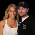 2009 Poker Hall of Fame nominee Daniel Negreanu along with 2009 Girls on the Rail Hall of Fame nominee Brittany Bowman
