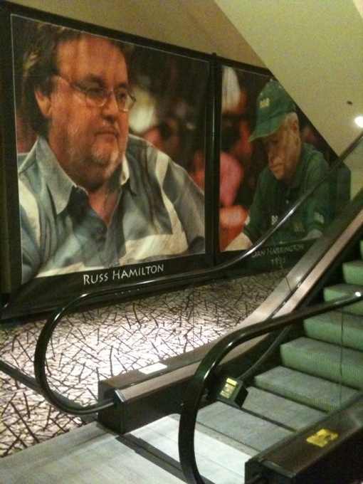 First Dan Harrington doesn't get elected into the HOF, and now they stick him behind the elevator where Russ used to be...wtf did Action Dan ever do to anyone?