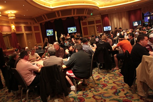 Late registrations created a 329 person field at the WPT Doyle Brunson Five Diamond World Poker Classic, although two of poker's biggest names ended up not playing.