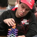 Carlos Mortensen built a big Space Invaders style stack in the $10k H.O.R.S.E. event.