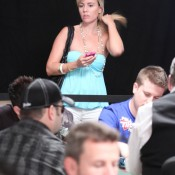 Joe Sebok (foreground) was among the many who did not cash in the $5k NLH event...
