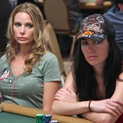Erica Schoenberg bf, Erick Lindgren (not pictured), will be going after his second WSOP bracelet today.