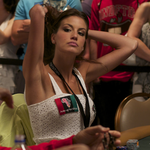 Francesca Fioretti at 2010 WSOP Ante Up For Africa poker tournament