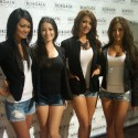 The Royal Flush Girls probably couldn't believe the fight that almost broke out at the Borgata during Day 2 play.