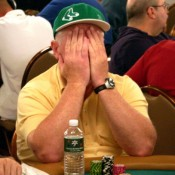 What Dan Harrington's reaction probably looked like upon hearing he was elected into the Poker Hall of Fame.