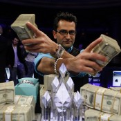 In Antonio Esfandiari's hands: how much he's going to spend on bottle service tonight.
