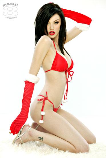 Vikki Blows in Santa Christmas lingerie