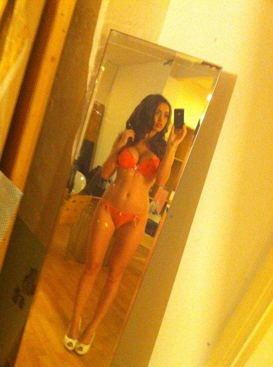 Victoria Moore lingerie self shot