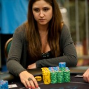 Ana Marquez, a woman, get this--leads the 2011 PCA Main Event.