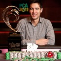 Galen Hall went all Green Bay Packers on Chris Oliver and won the 2011 PCA Main Event.