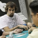 While some Full Tilt pros showed up in their logos, PokerStars' Jason Mercier went patchless.