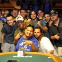 David Diaz won his first bracelet and his friend on the right is too sexy for his dredlocks.