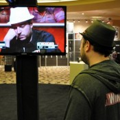 Nicolas Levi wonders what Nicolas Levi is thinking at the $10k PLO final table.