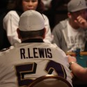 NFL all-time great Ray Lewis is still alive on Day 2B at the 2011 WSOP Main Event.