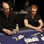 Pictured: chip leader Erik Seidel and Andrew Robl, two of the 100 players who entered Epic Main Event #3.