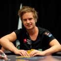 Viktor Blom looks to make his first major live score, as he's second in chips at the 2012 PCA Super-High Roller.