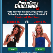 Zynga Poker wants you to pick their next girl. Wait, they had a first girl?