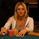 Gaelle Baumann, a woman, leads the 2012 WSOP Main Event after two days. No, seriously.