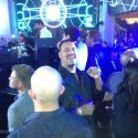 After reportedly winning $100k playing poker, Michael Phelps (background) partied with JRB, Hellmuth, and others at Surrender.