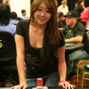 Maria Ho looks to become the first ever woman to win a bracelet in an open event. That's accurate right?