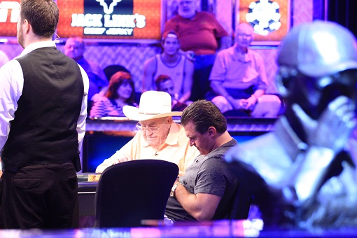 Doyle Brunson's Main Event run came to an end on Day 4.