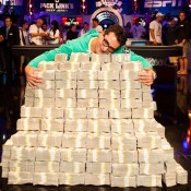 Only in poker can you hug it out with $18M.